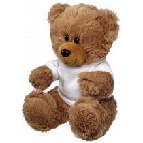 Large plush sitting bear with shirt