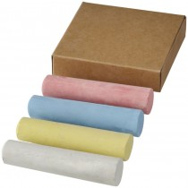 4-piece chalk set in natural box