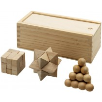 Brainiac 3-piece wooden brainteasers